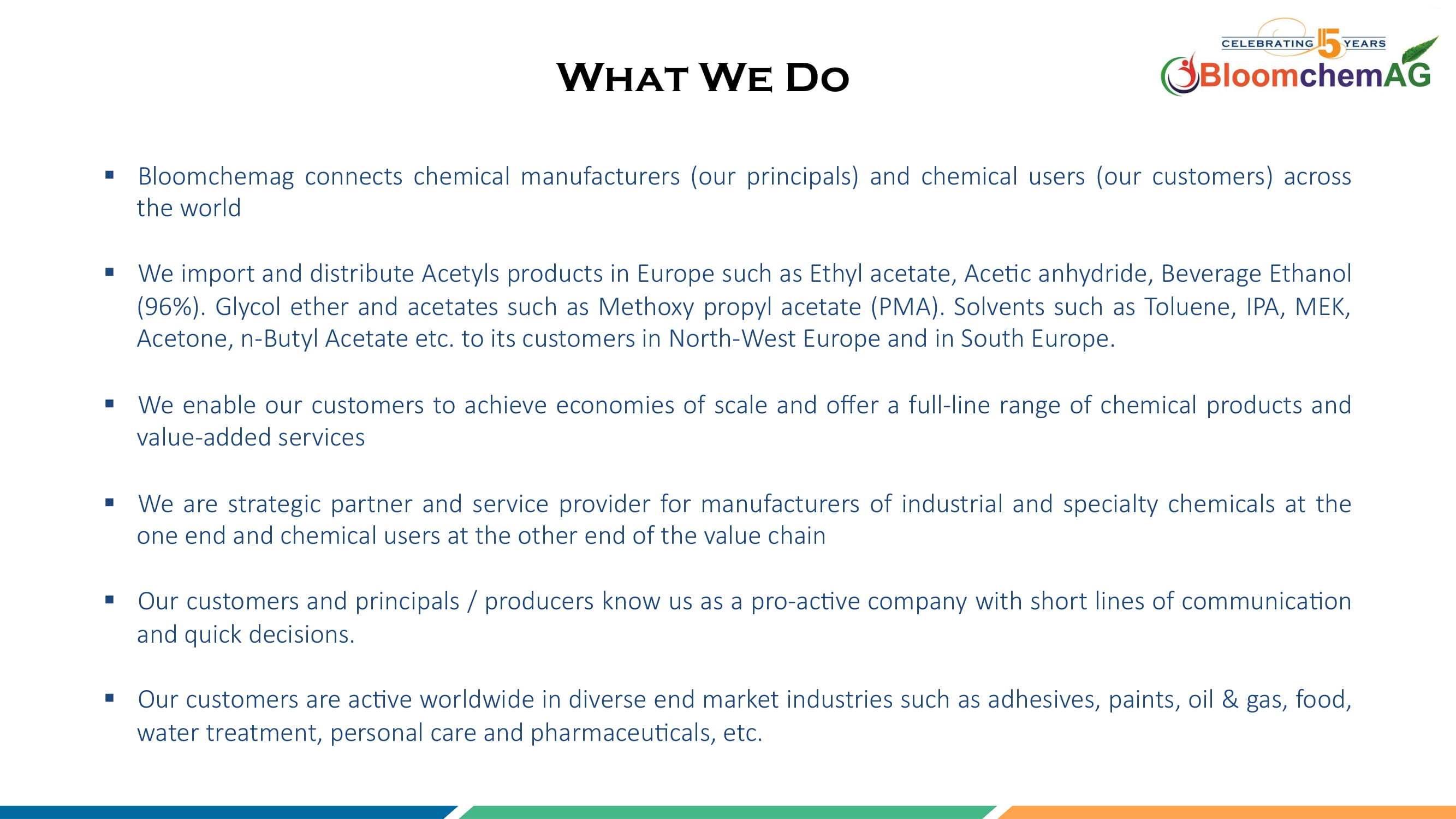 Solvents Supplier | Chemicals Supplier India-BloomchemAG